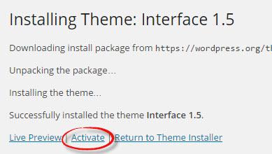 activate theme